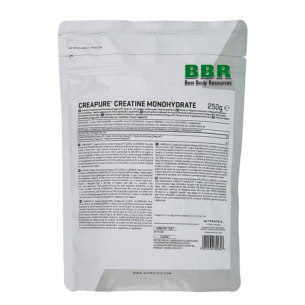Creapure Creatine 250g, MyProtein