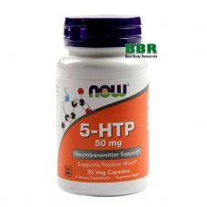 5-HTP 50mg 30 Caps, NOW Foods
