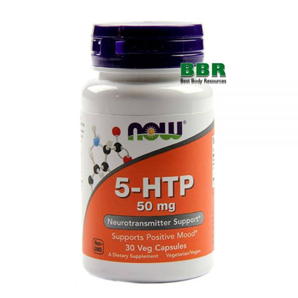 5-HTP 50mg 30 Caps, NOW Foods