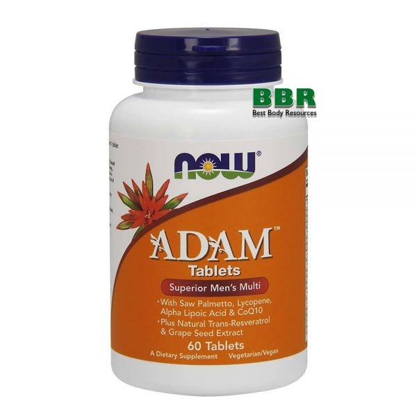 ADAM Superior Mens Multi 60 Tab, NOW Foods