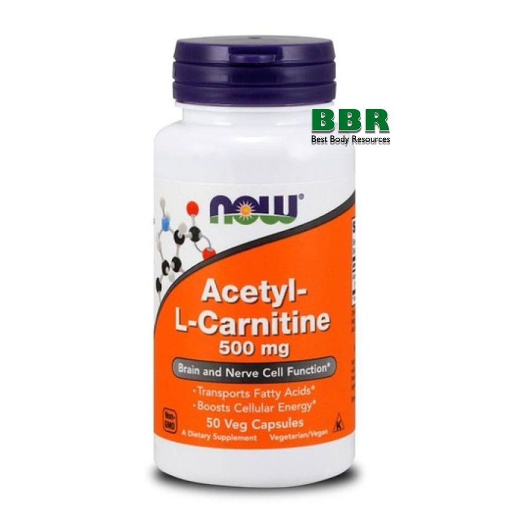 Acetyl L-Carnitine 500mg 50 Veg Caps, NOW Foods