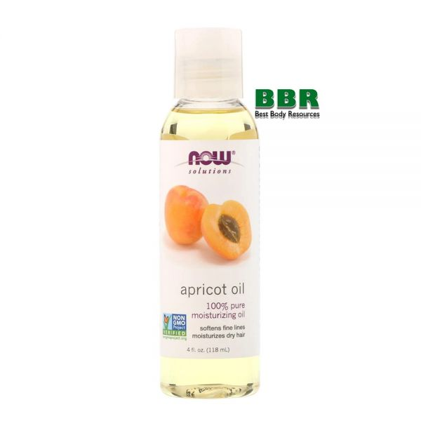 Apricot Oil 118ml, NOW Foods