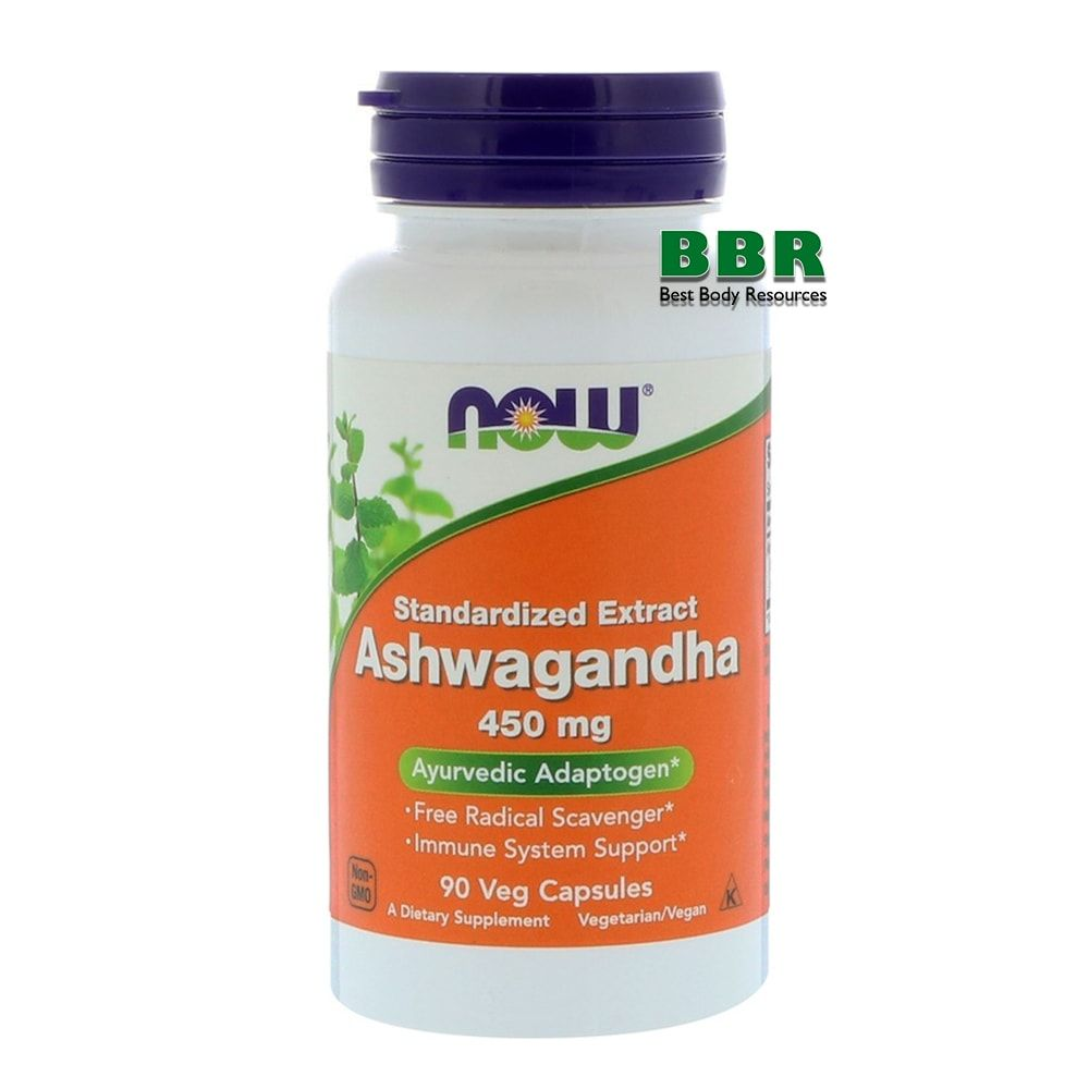 Ashwagandha 450mg 90 Caps, NOW Foods