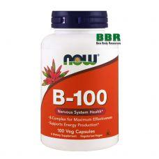 B-100 100 Caps, NOW Foods