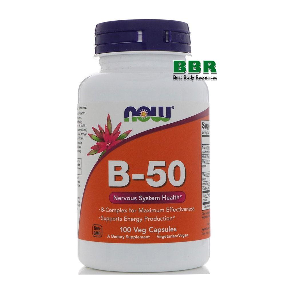 B-50 100 Caps, NOW Foods