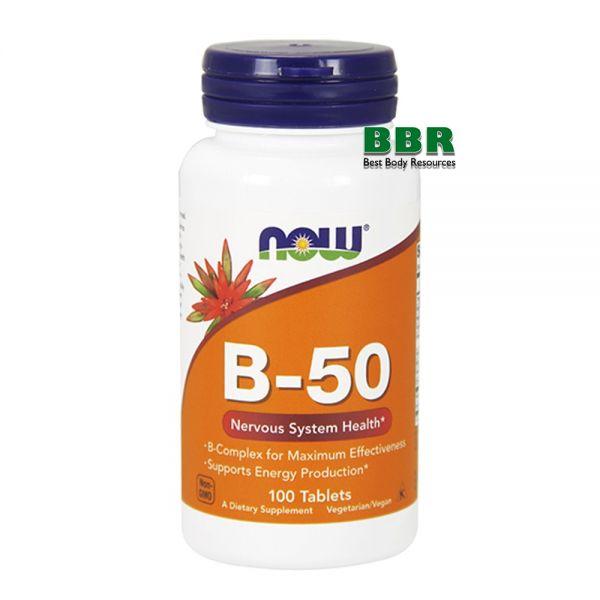 B-50 100 Tab, NOW Foods