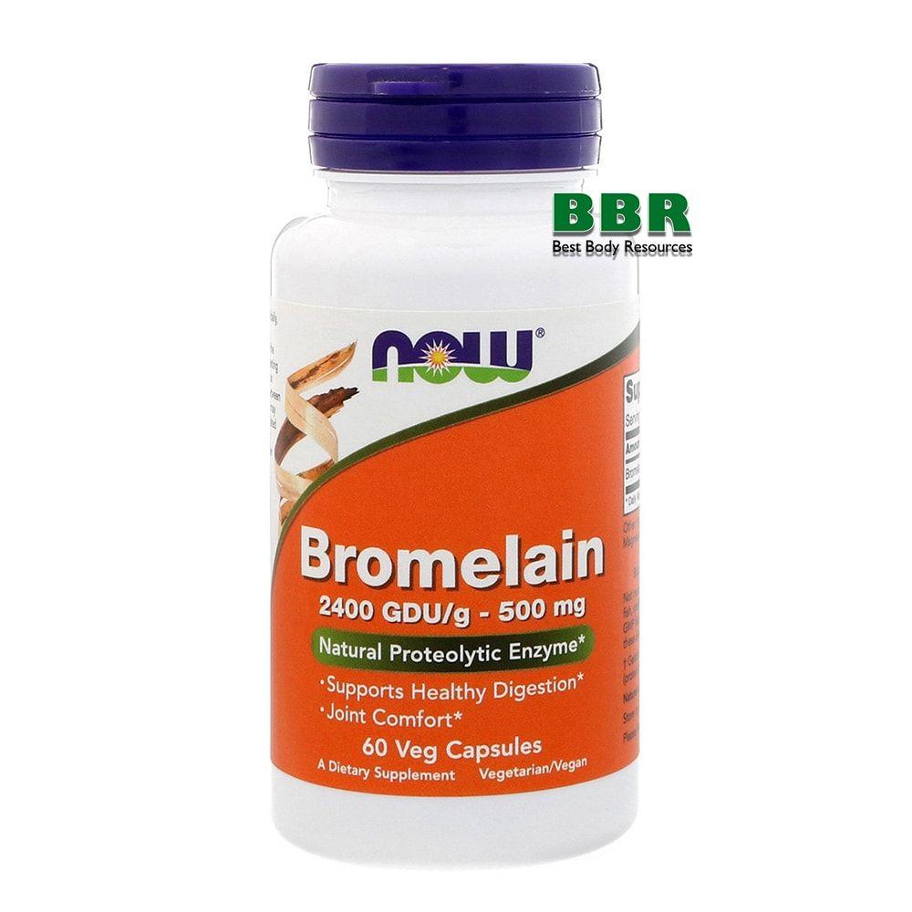 Bromelain 500mg 60 Caps, NOW Foods