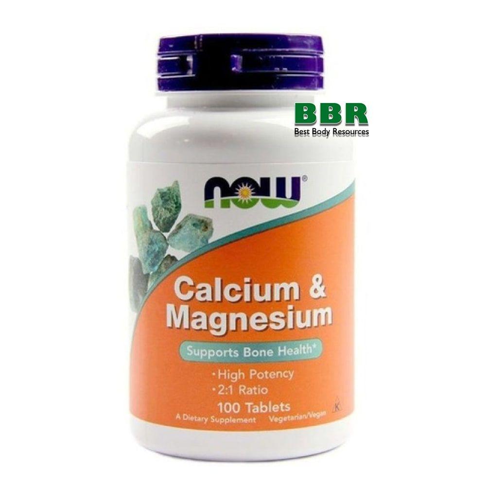 Calcium Magnesium 100 Tab, NOW Foods