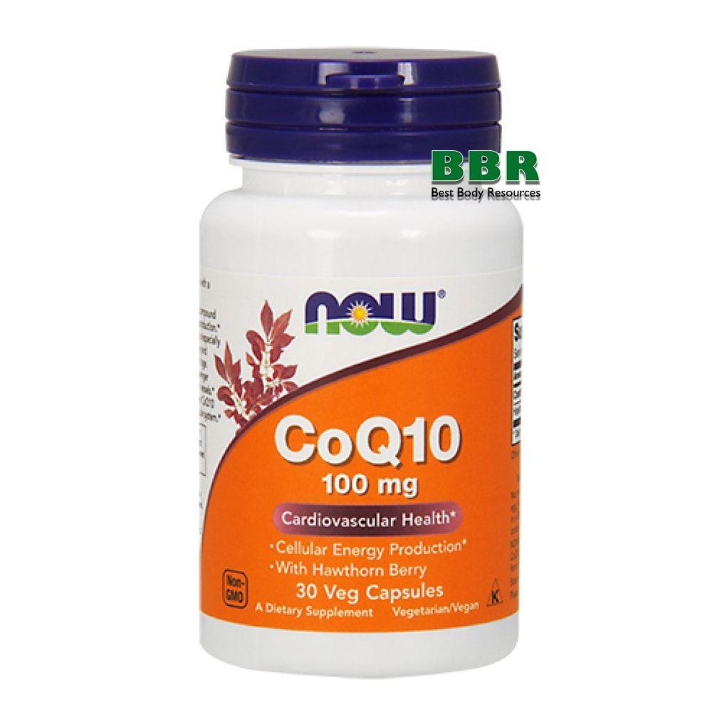 CoQ10 100mg 30 Caps, NOW Foods