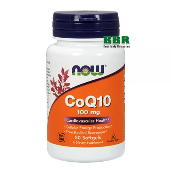 CoQ10 100mg 50 Softgels, NOW Foods