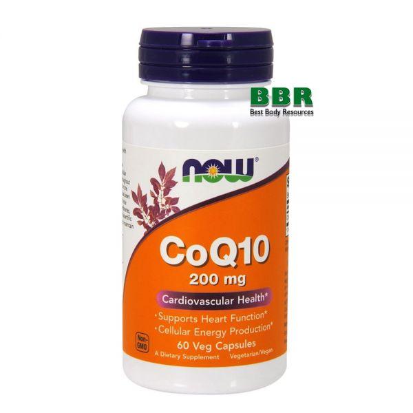 CoQ10 200mg 60 Caps, NOW Foods