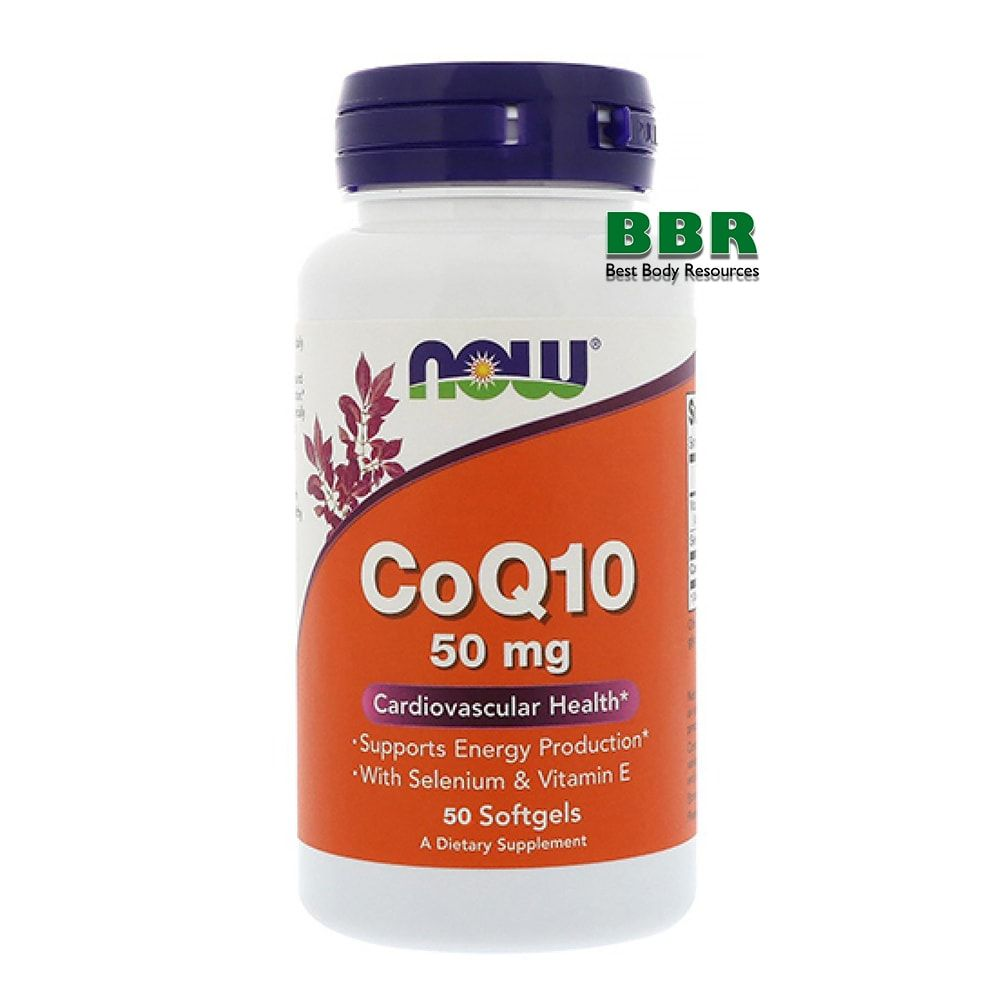 CoQ10 50mg 50 Softgels, NOW Foods