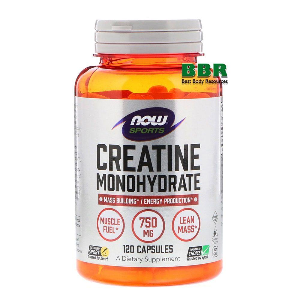 Creatine Monohydrate 750mg 120 Caps, NOW Foods