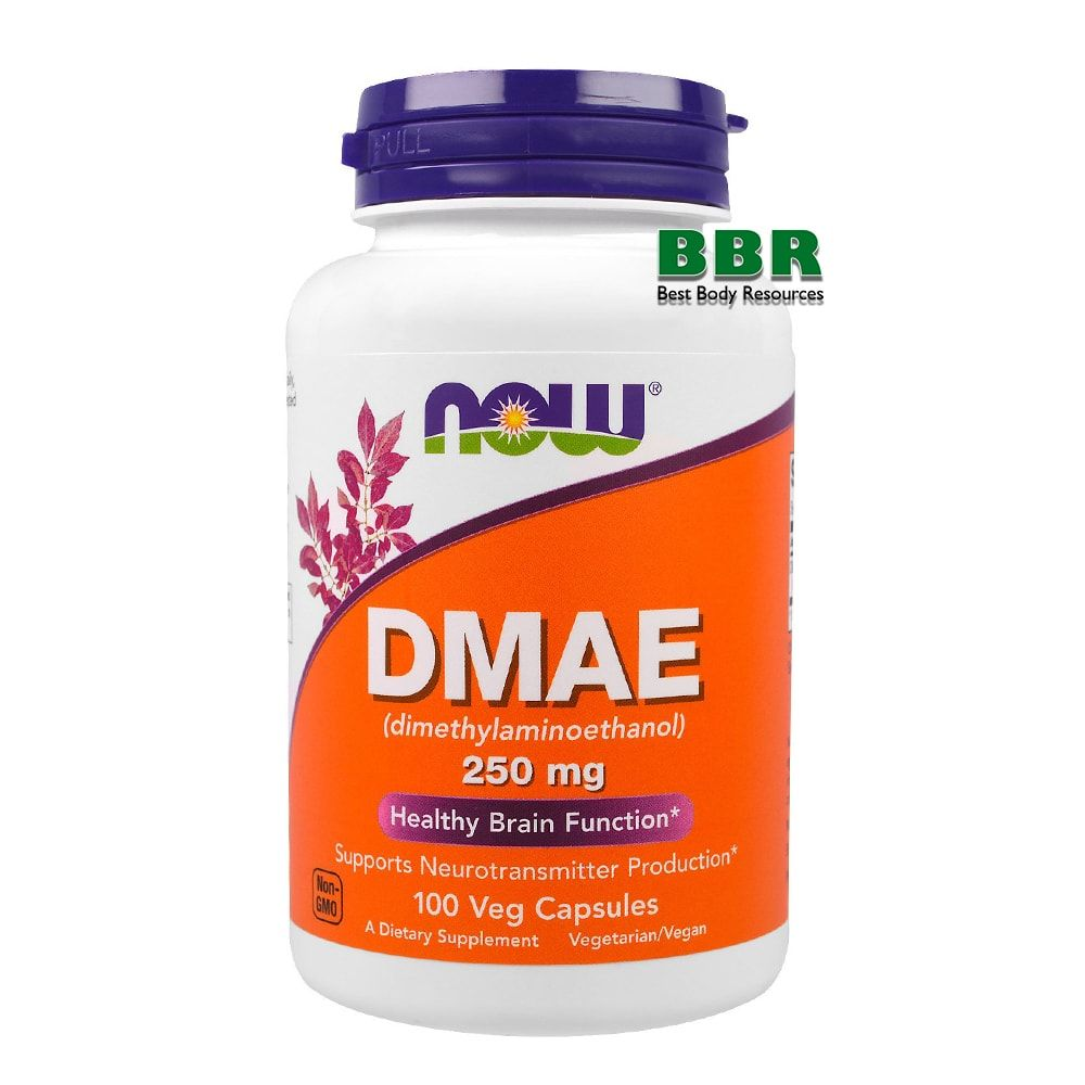 DMAE 250mg 100 Caps, NOW Foods