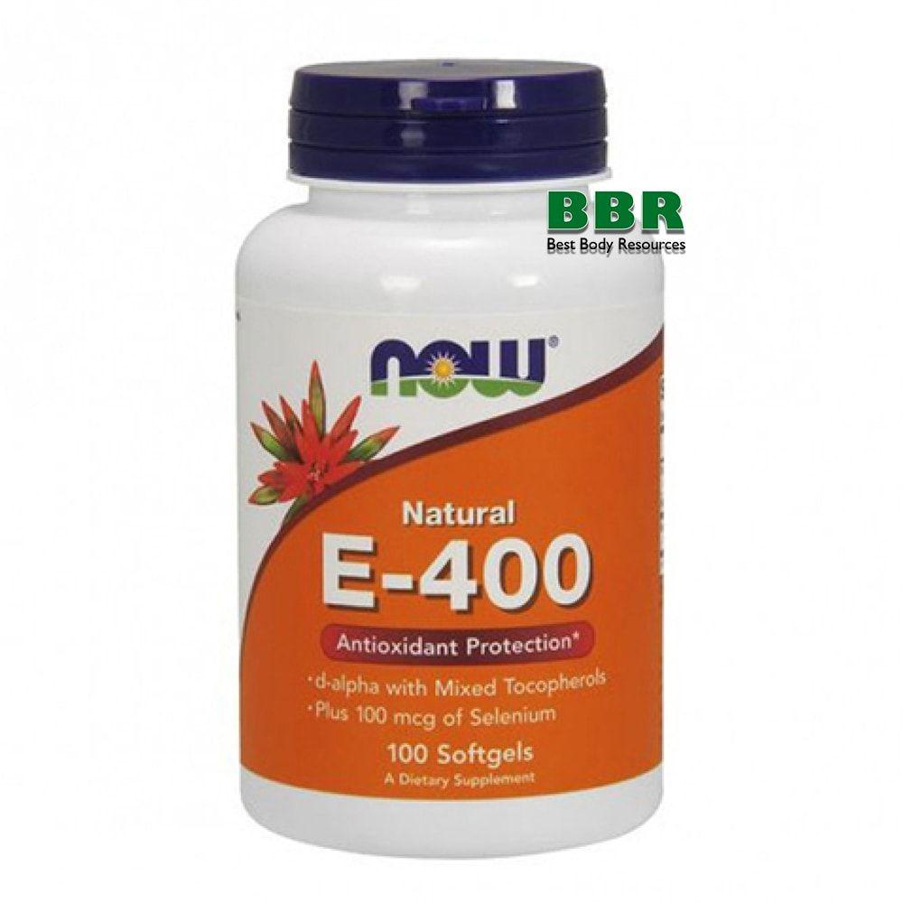 E-400 mixed + Selenium 100 Softgels, NOW Foods