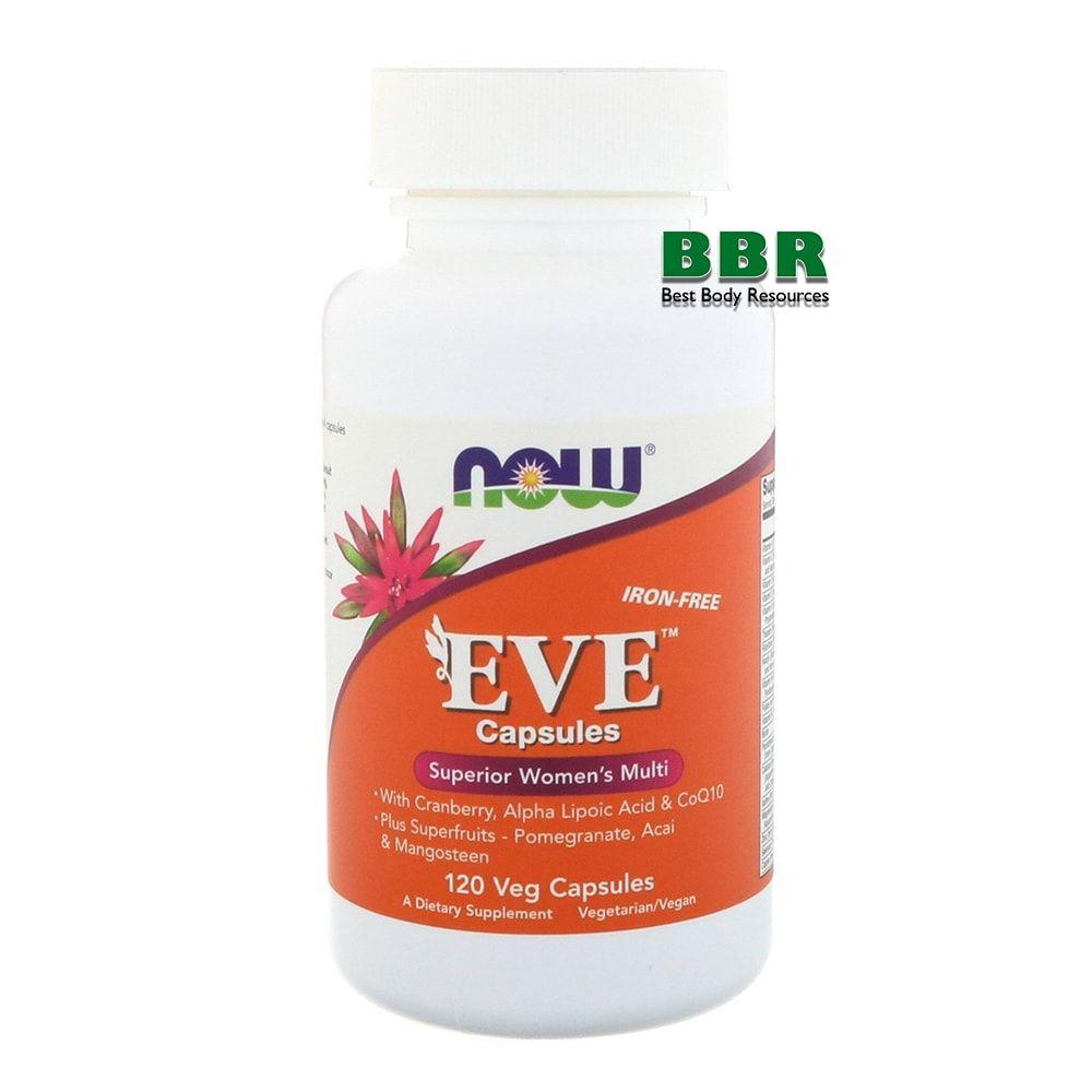 EVE Superior Women's multi 120 Veg Caps, NOW Foods
