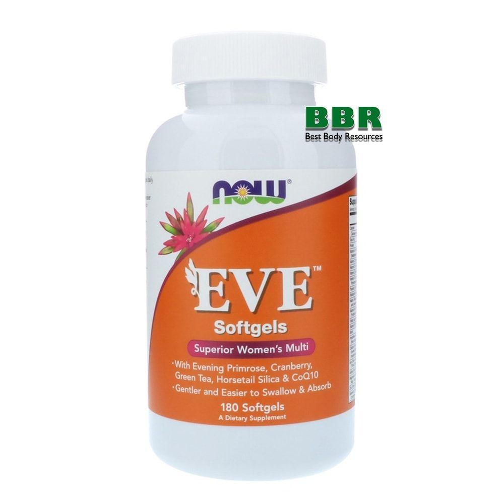 EVE Superior Womens multi 180 Soflgels, NOW Foods