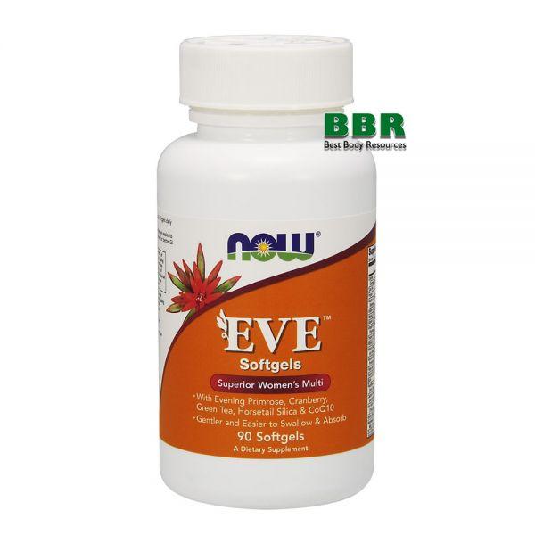 EVE Superior Womens multi 90 Soflgels, NOW Foods