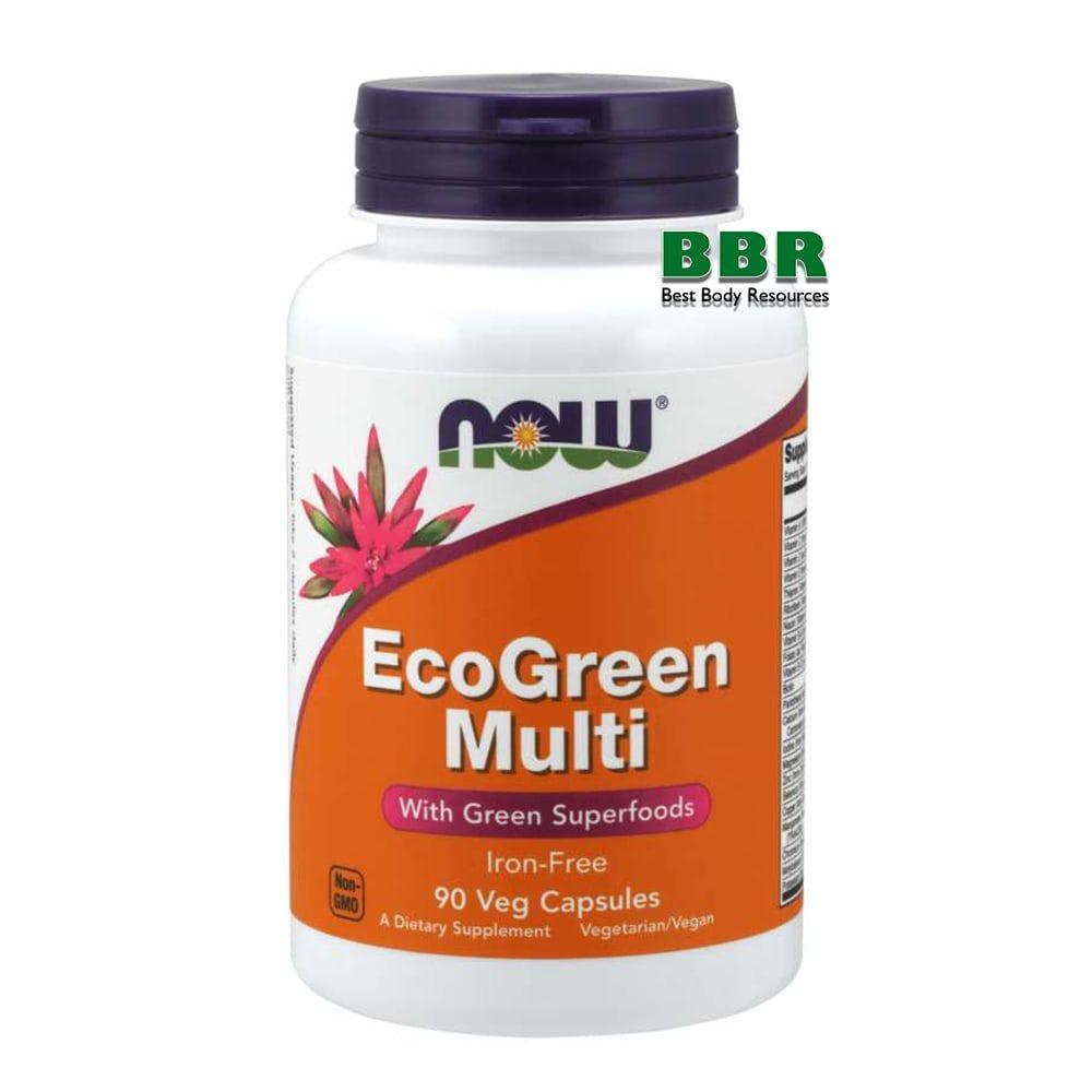EcoGreen Multi 90 Caps, NOW Foods