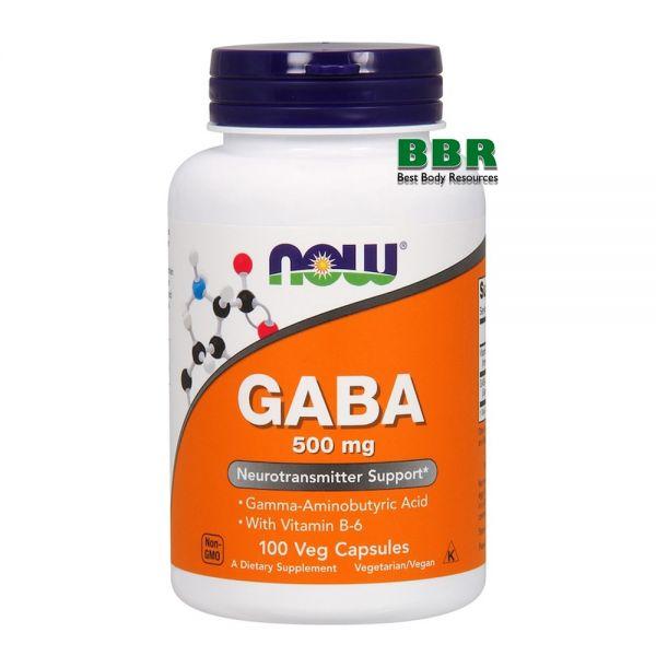 GABA 500mg 100 Caps, NOW Foods