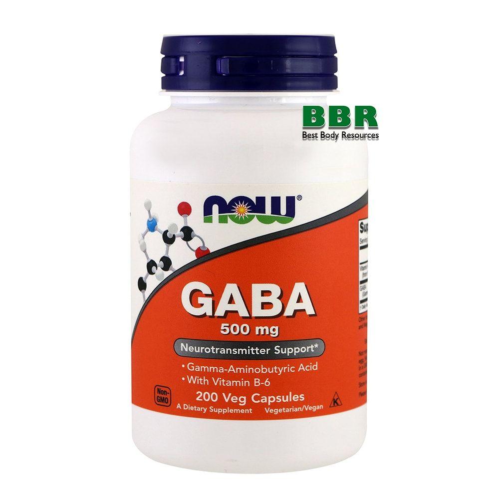 GABA 500mg 200 Caps, NOW Foods