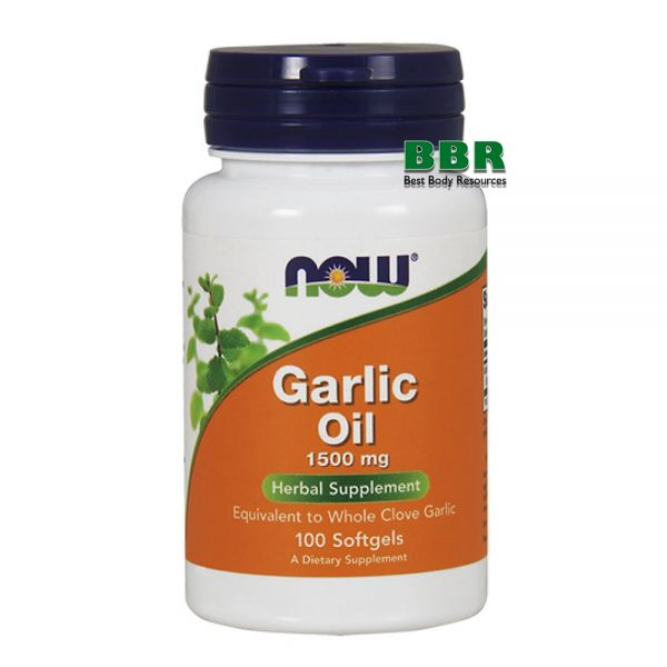 Garlic Oil 1500mg 100 Softgels, NOW Foods