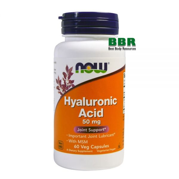 Hyaluronic Acid 50mg 60 Caps, NOW Foods