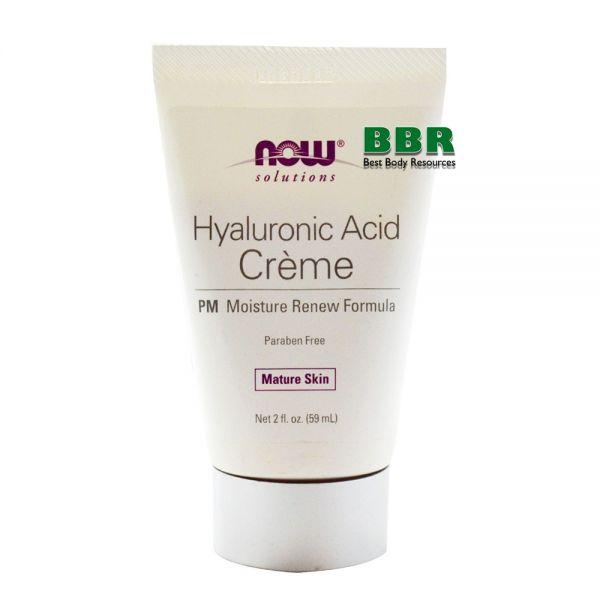 Hyaluronic Acid Cream 59ml, NOW Foods
