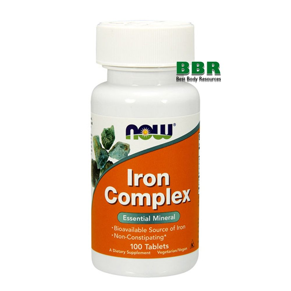 Iron Complex 100 Tab, NOW Foods