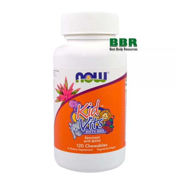 Kid Vits Berry Blast 120 Chewables, NOW Foods