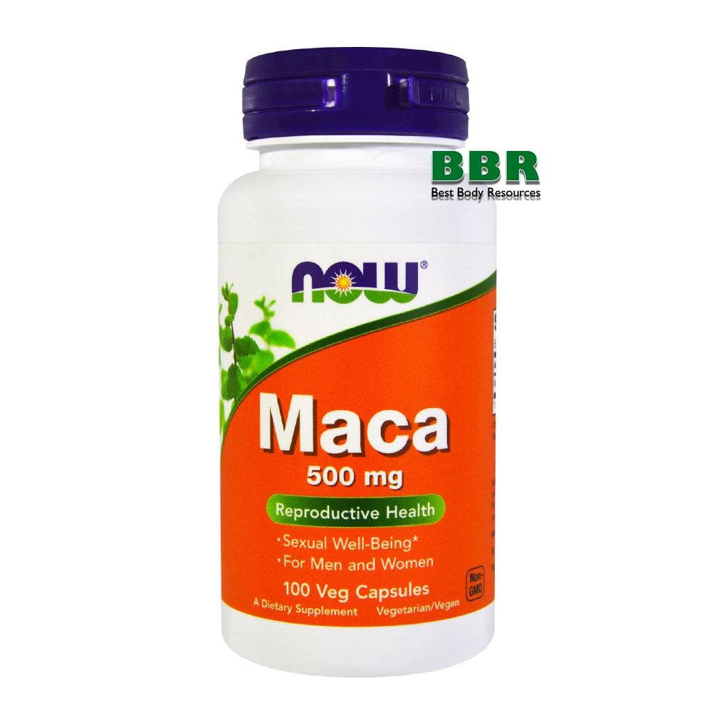 Maca 500mg 100 Caps, NOW Foods