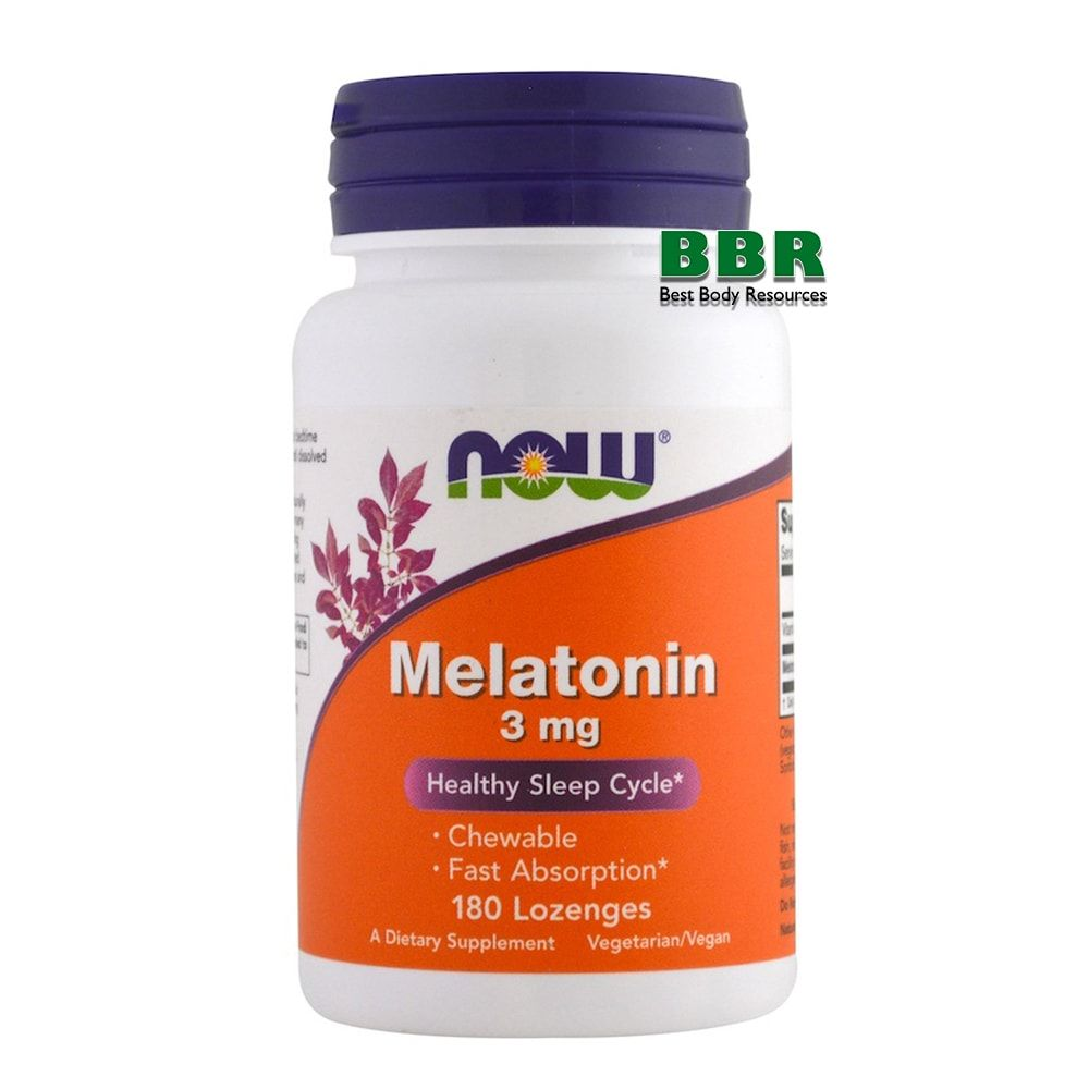 Melatonin 3mg 180 Caps, NOW Foods