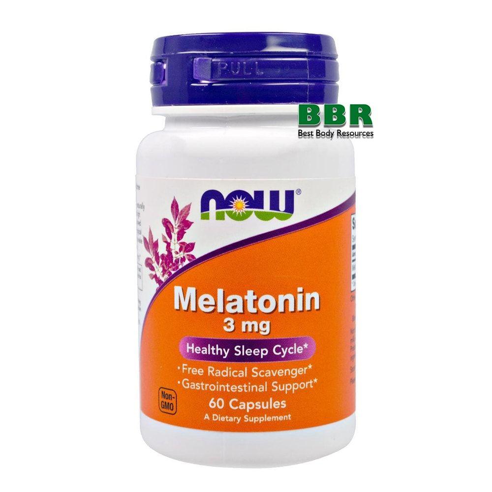 Melatonin 3mg 60 Caps, NOW Foods