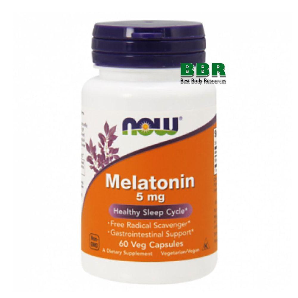 Melatonin 5mg 60 Caps, NOW Foods