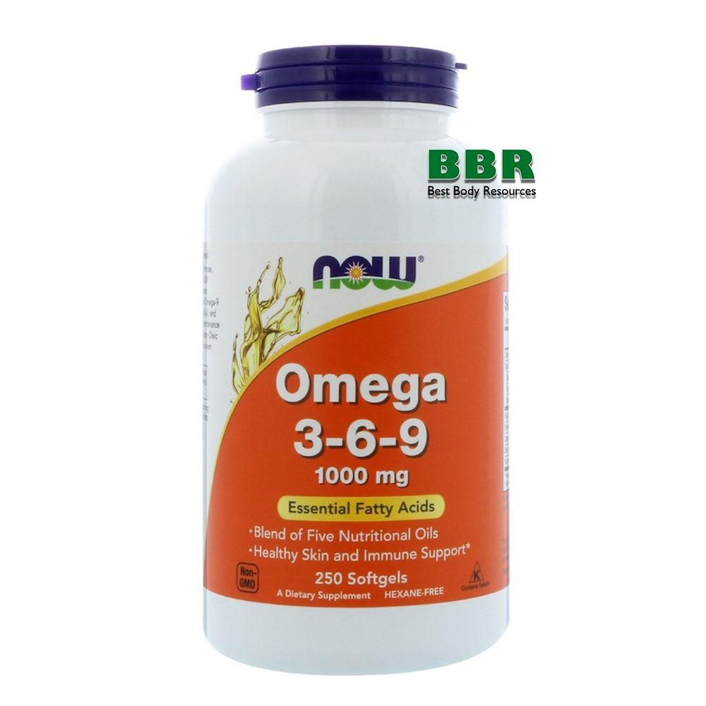 Omega 3-6-9 1000mg 250 Softgels, NOW Foods
