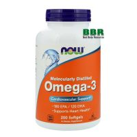 Omega 3 200 Softgels, NOW Foods