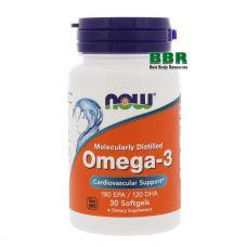 Omega 3 30 Softgels, NOW Foods