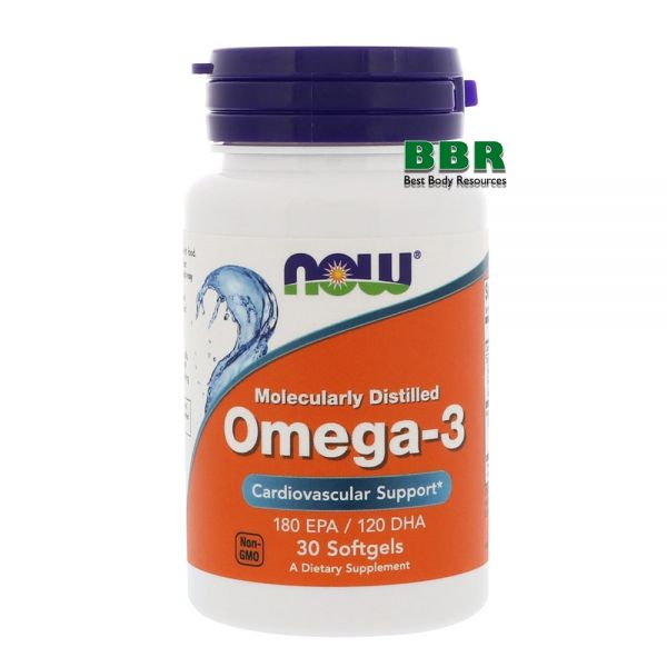 Omega 3 30 Caps, NOW Foods