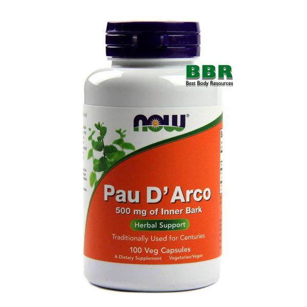 Pau D Arco 500mg 100 Veg Caps, NOW Foods