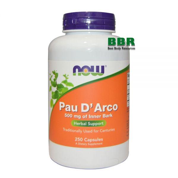 Pau D Arco 500mg 250 Veg Caps, NOW Foods