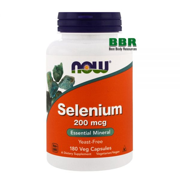 Selenium 200mcg 180 Caps, NOW Foods
