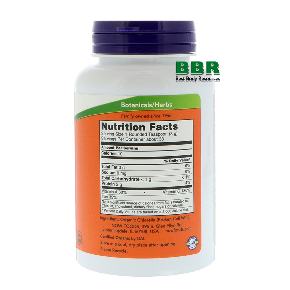 Chlorella Pure Powder 113g, NOW Foods