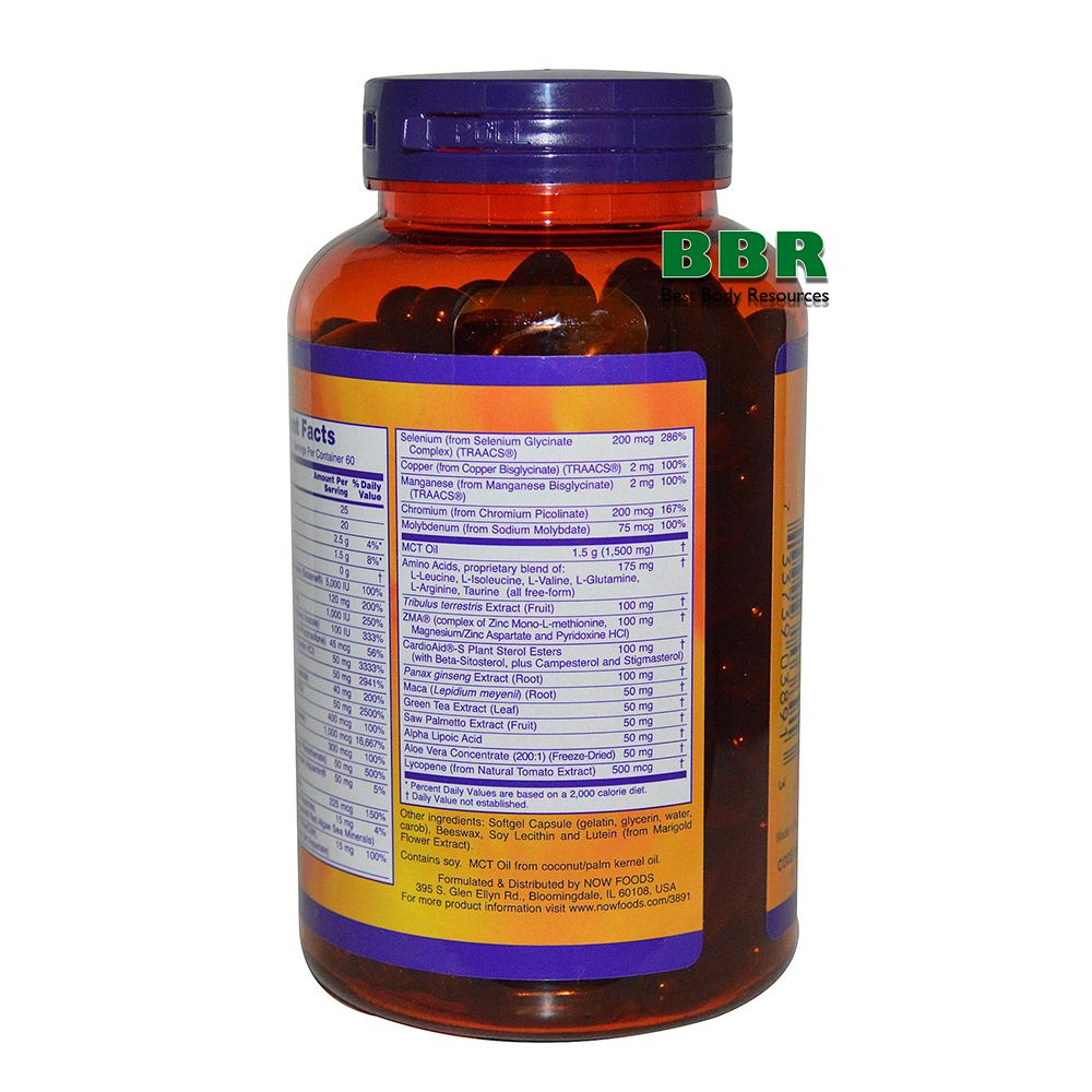 Mens Extreme Sport Multi 180 Softgels, NOW Foods