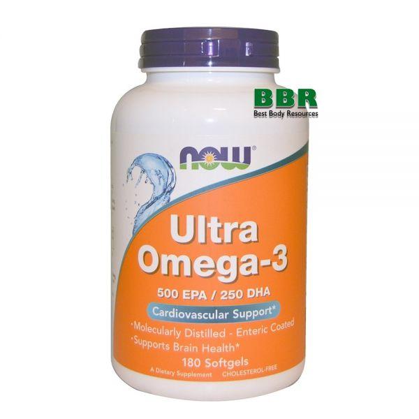 Ultra Omega 3 180 Softgels, NOW Foods