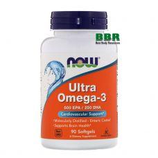 Ultra Omega 3 90 Softgels, NOW Foods