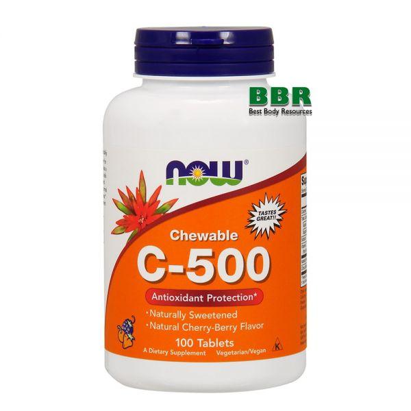 Vitamin C-500 100 Tab, NOW Foods