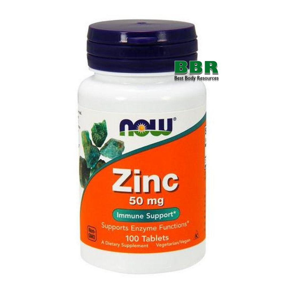 Zinc 50mg 100 Tab, NOW Foods