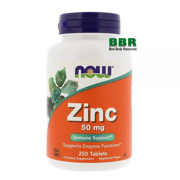 Zinc 50mg 250 Tab, NOW Foods