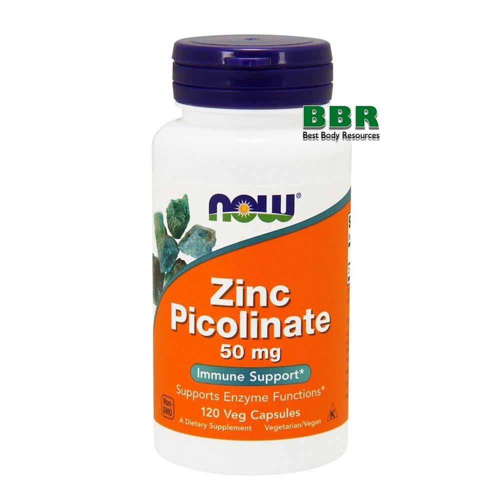 Zinc Picolinate 50mg 120 Caps, NOW Foods