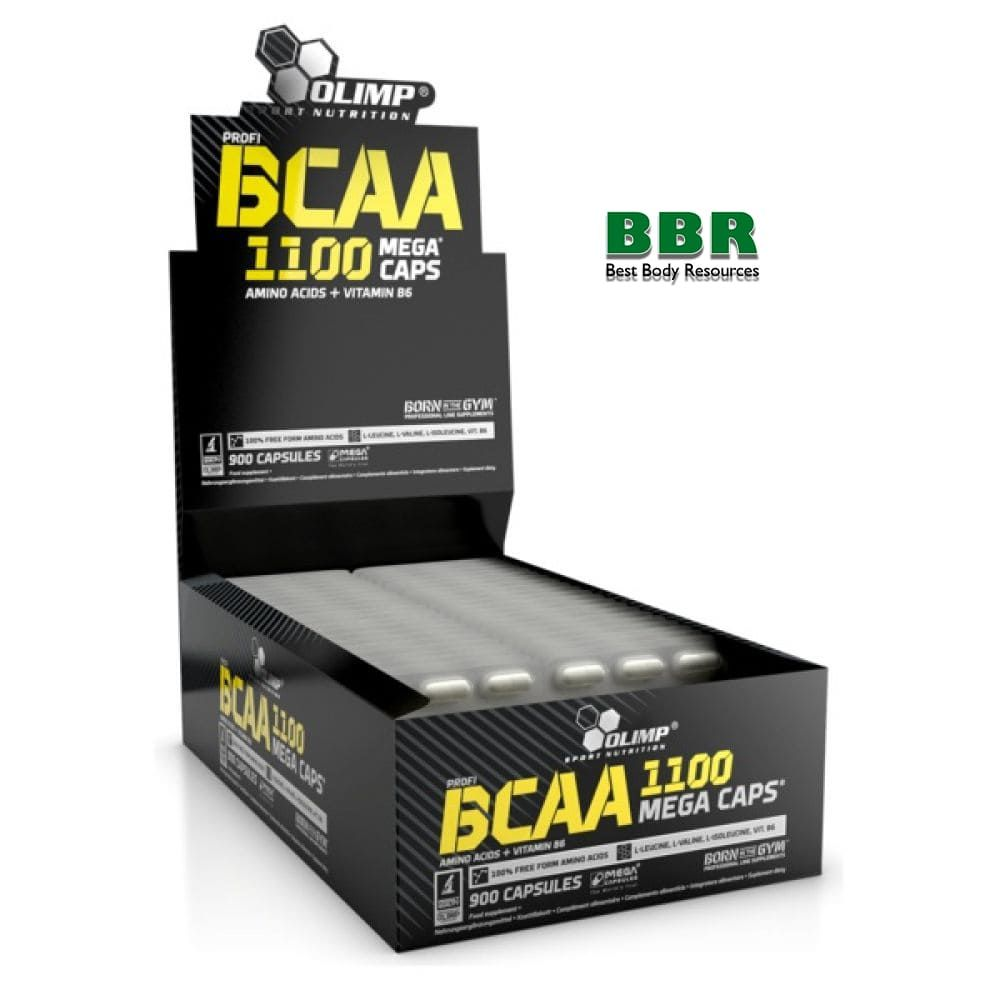 BCAA Mega Caps 1100mg 30x30caps, Olimp Nutrition